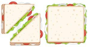 Placez des sandwichs sains illustration de vecteur