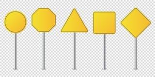 Placez du blanc d'isolement par panneaux routiers en métal illustration libre de droits