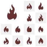Placez du calibre de vecteur de conception de logo de flamme du feu Symbole d'ic?ne illustration libre de droits