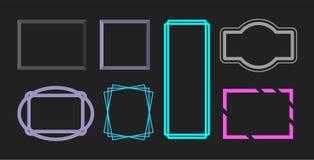 Placez du divers cadre Conception de décoration d'image illustration stock