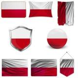 Placez du drapeau national illustration libre de droits