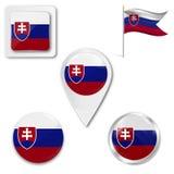 Placez du drapeau national illustration stock