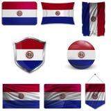 Placez du drapeau national illustration de vecteur