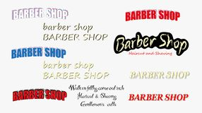 Placez du logo de salon de coiffure de cru illustration libre de droits