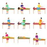 Placez du massage différent au studio de ville au lit mou illustration de vecteur