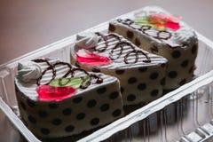 Placez du plan rapproché délicieux de pâtisseries images stock