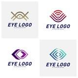 Placez du vecteur de concept de construction de logo d'oeil, calibre de logo d'oeil, symbole d'ic?ne illustration libre de droits