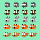 Placez Forest Animals Illustration Stock