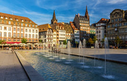 Placez Kleber à Strasbourg - France Images stock