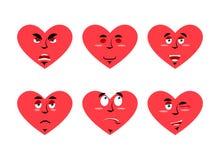 Placez l'émotion d'amour Amour gai et fâché Surprise et tristesse illustration stock