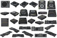 Placez l'équipement du DJ de table Photo stock