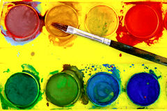 placez l'aquarelle Image libre de droits