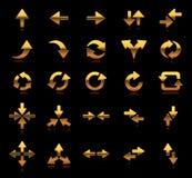 Placez l'or de direction de flèche d'icône et de symbole d'or illustration libre de droits