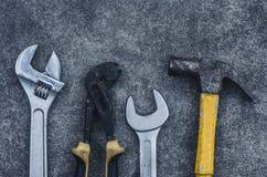 Placez l'espace de copie d'équipement d'outils Images stock