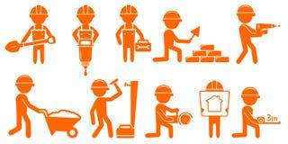 Placez l'homme de réparation avec des outils pour la construction Photo stock