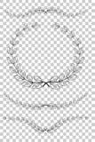 Placez l'icône de vecteur de guirlande de laurier, pour votre frontière de titre, au fond transparent d'effet illustration de vecteur