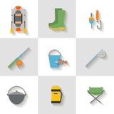 Placez l'icône de fising la conception plate Photographie stock libre de droits
