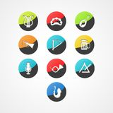 Placez l'icône de Web d'instrument de musique Images stock