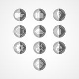 Placez l'icône de Web de concept Images libres de droits