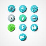 Placez l'icône de Web de concept Photographie stock libre de droits