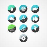 Placez l'icône de Web de concept Photos stock
