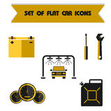 Placez l'icône plate de vecteur de couleur de voiture Images libres de droits