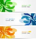 Placez l'illustration abstraite de bannière, numérique coloré illustration stock