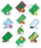Placez l'illustration de vecteur de sport d'icônes Photographie stock libre de droits