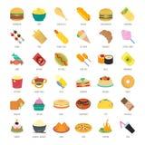 Placez l'illustration de vecteur des aliments de préparation rapide illustration libre de droits