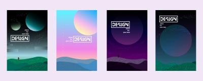 Placez l'univers de gradient illustration stock