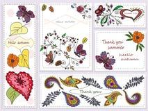 Placez la bannière avec les fleurs abstraites Photo stock