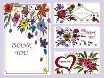 Placez la bannière avec les fleurs abstraites Photos stock