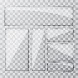 Placez la bannière en verre sur un fond transparent illustration de vecteur