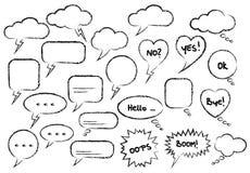 Placez la bulle de la parole tirée par la main illustration stock