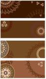 Placez la carte postale de chocolat de vecteur Photo stock