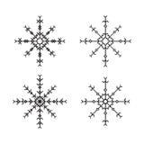 Placez la conception slave de flocons de neige de découpe Image stock
