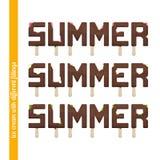Placez la crème glacée d'été illustration libre de droits