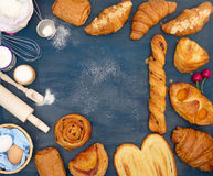 Placez la cuisson et les ingrédients Photos stock