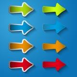 Placez la flèche d'icône droite Photographie stock libre de droits