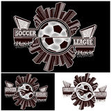 Placez la ligue de football de logo Photo stock