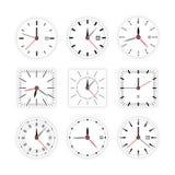 Placez la minuterie de cadran d'horloge illustration stock