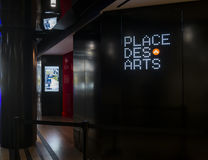 Placez la publicité d'arts de DES Photo stock