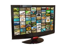 placez la TV Images libres de droits