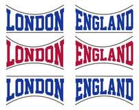 placez la typographie de l'Angleterre Illustration de Vecteur