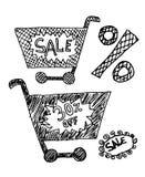 Placez la vente d'inscriptions sur le fond blanc Image libre de droits