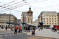 Placez le Bel Air de De, Genève, Suisse Photographie stock libre de droits