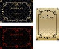 Placez le calibre de certificats dans le vecteur pour l'obtention du diplôme c d'accomplissement Image libre de droits