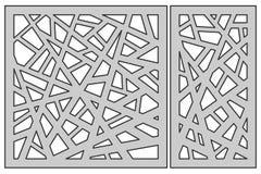 Placez le calibre pour la coupure Ligne abstraite configuration Coupe de laser Rati illustration libre de droits