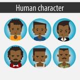 Placez le caractère africain masculin Photo libre de droits