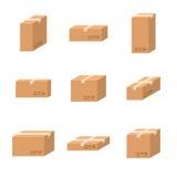 Placez le carton différent de tailles de boîtes en carton de la livraison Photos stock